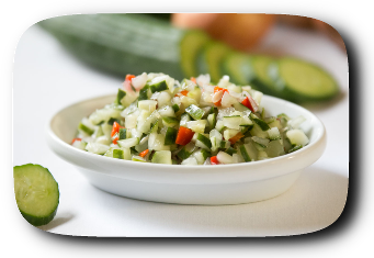 Diced Cucumber Salad